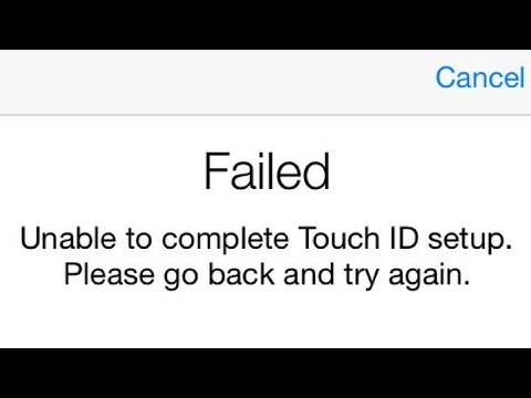 how to Fix unable to complete touch id setup please go back and try again