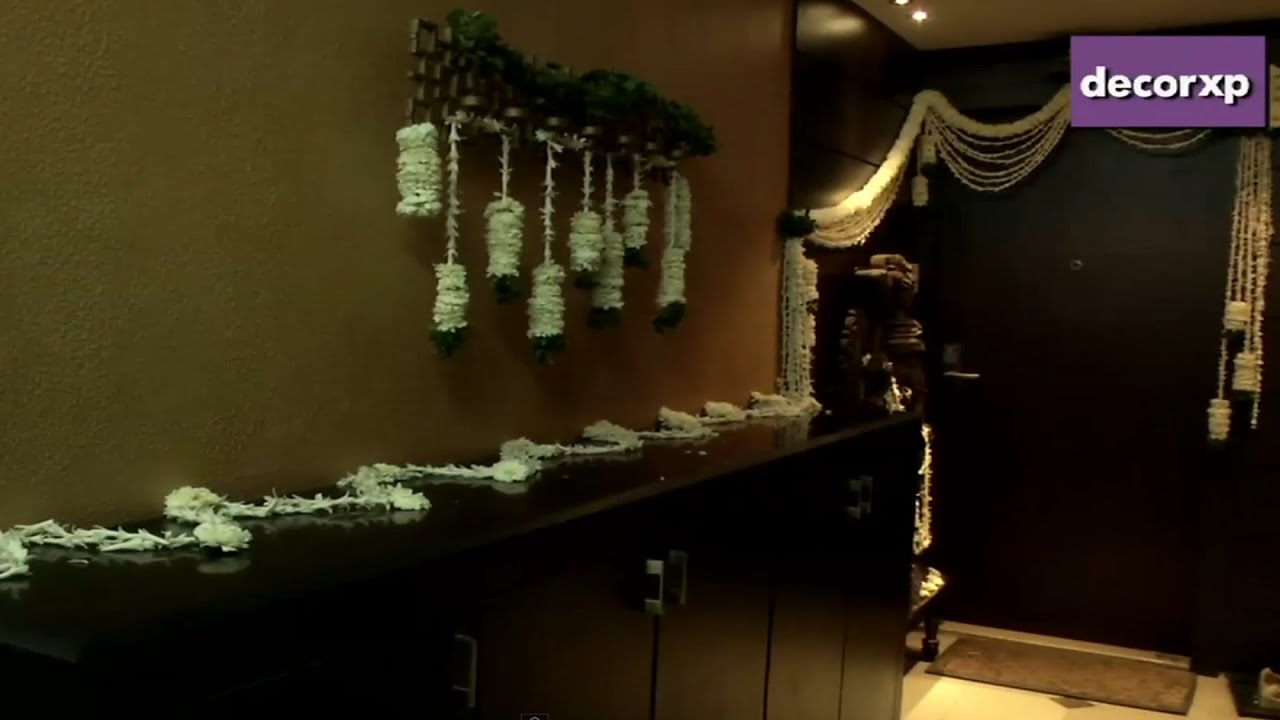 Floral Decor For Puja Youtube