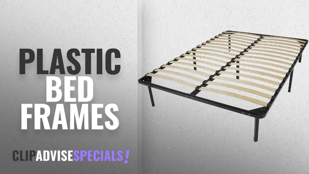 online store 49a31 86559 Top 10 Plastic Bed Frames [2018]: Best Choice Products Wooden Slat Metal  Bed Frame Wood Platform