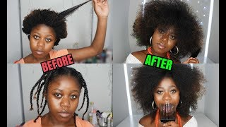 HOW TO STRETCH OUT 4C HAIR WITHOUT HEAT - Threading
