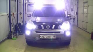 Nissan X-Trail T31 - добавим светодиодов  в штатную оптику