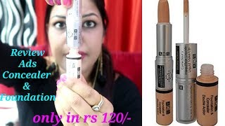 ADS Double Action Foundation & Concealer | Review & Demo | Cheapest Foundation & Concealer