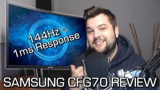 samsung cfg70 review 144 fps gaming monitor curved w 1ms response time