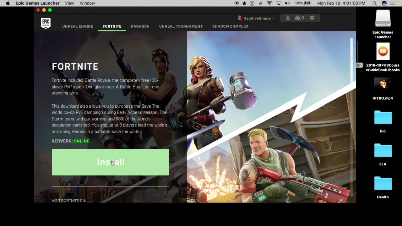 how to download fortnite on a mac