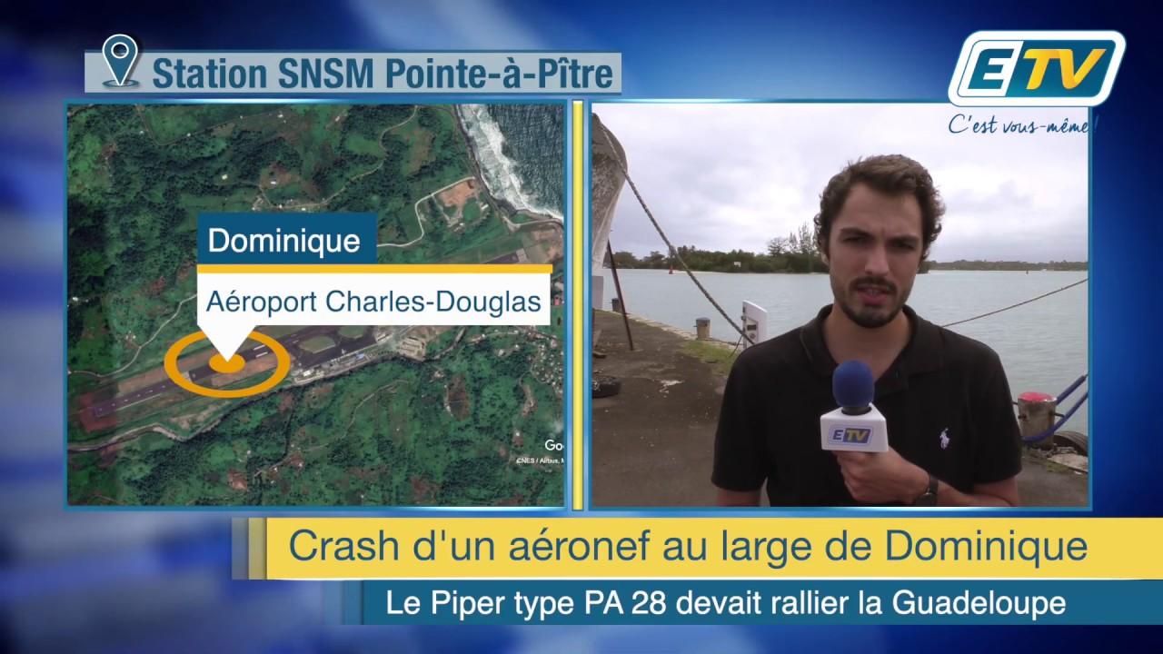 Un aéronef qui devait rallier la Guadeloupe se crashe au large de Dominique