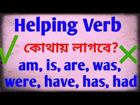 Helping Verb, Where To Use And Not To Use Explained In Bangla