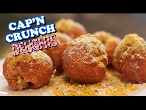 HOW TO MAKE Cap'N Crunch Berry Glazed Donut Holes Recipe  |  HellthyJunkFood