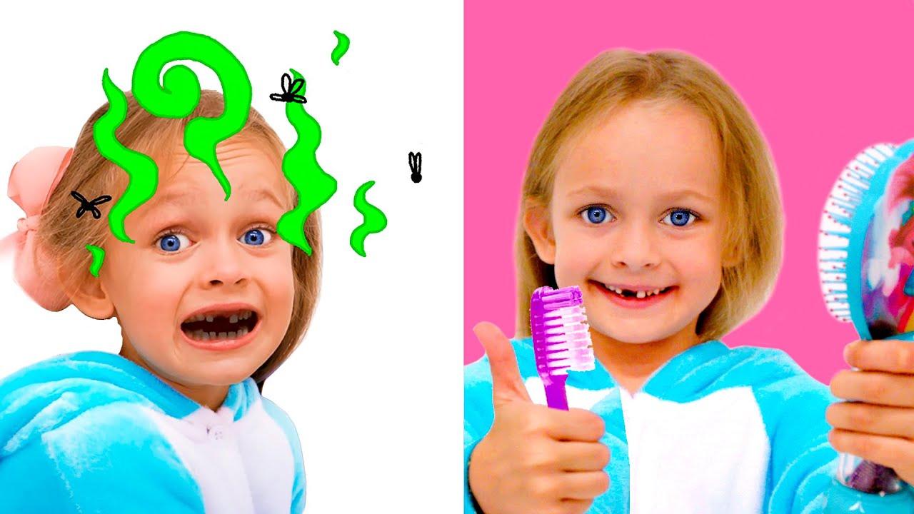 माया और माशा अच्छा बच्चा  बच्चे की स्वच्छता Maya takes care of personal hygiene with a Kids Song