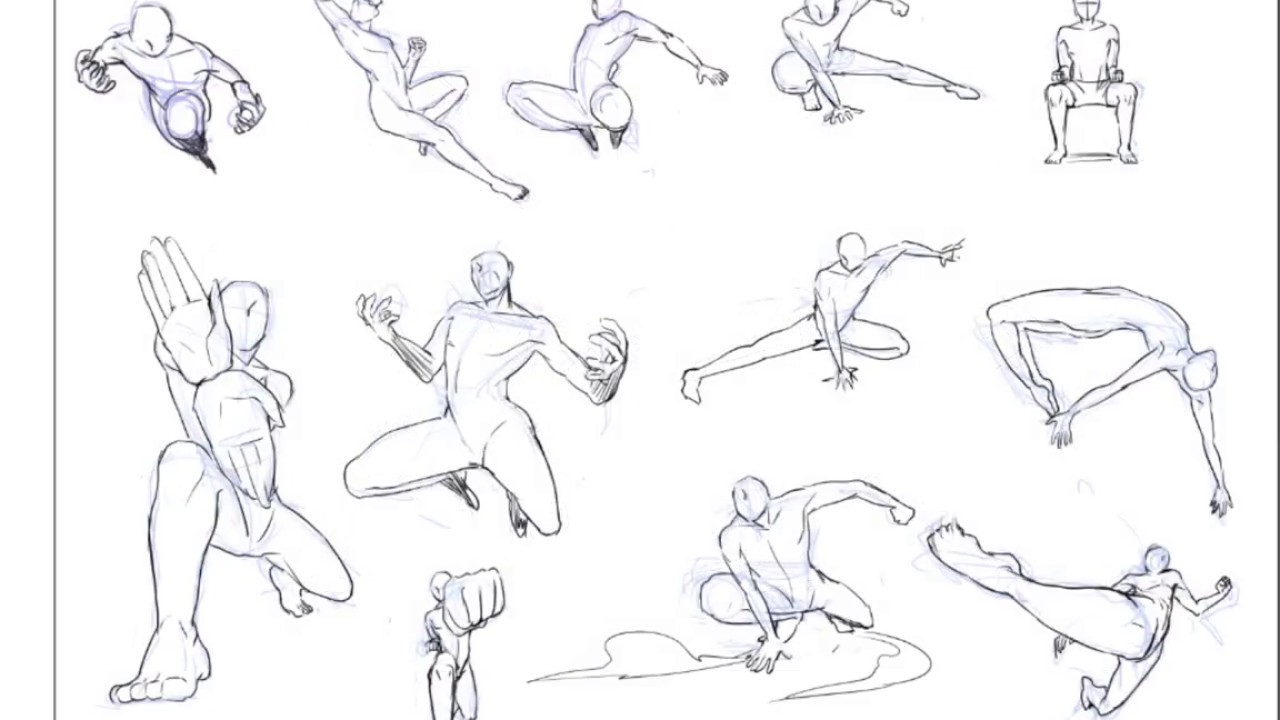 Sketch pose time 03 action or fighting pose