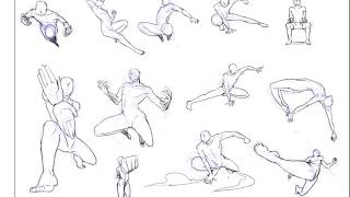 vuclip [Sketch Pose Time] 03 - Action or fighting pose
