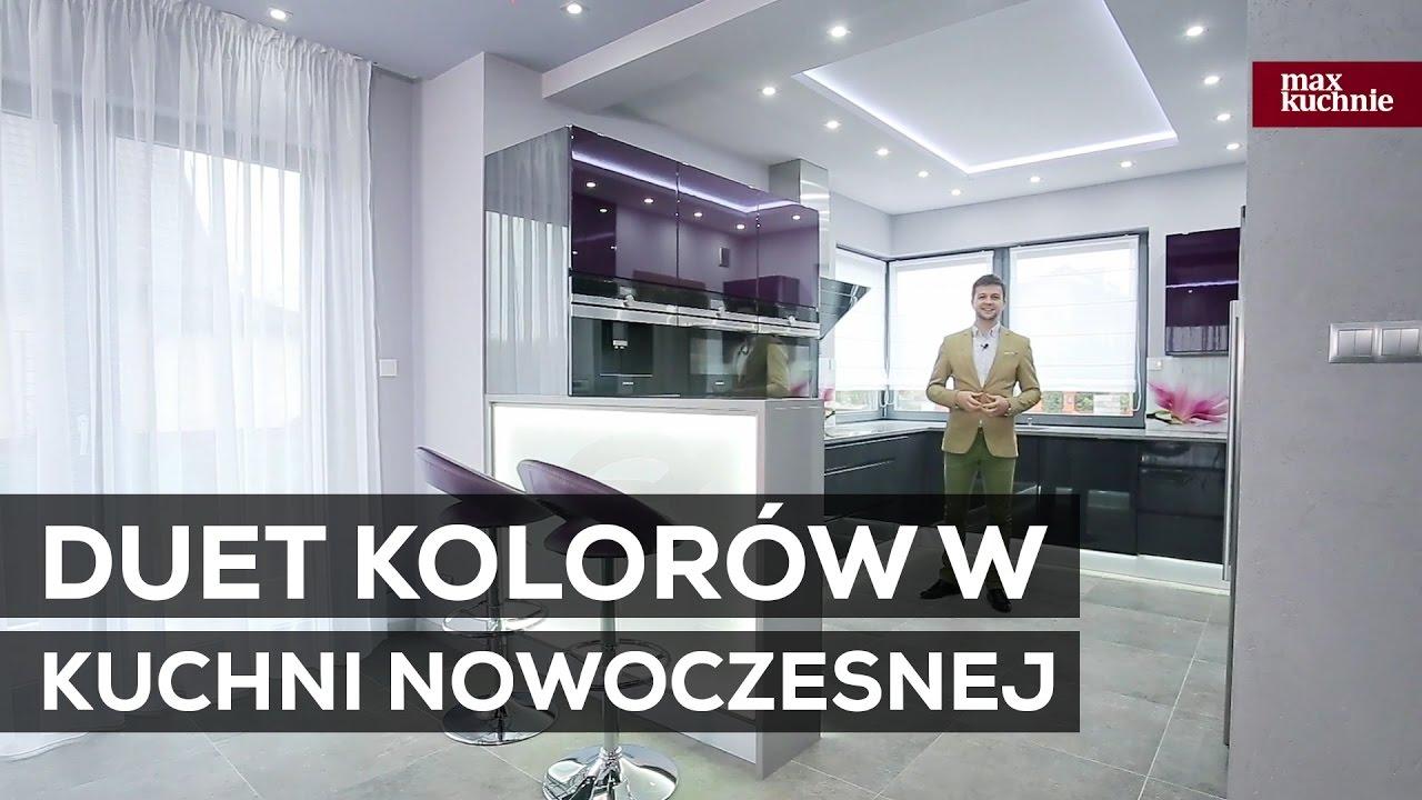 Duet Kolorów W Kuchni Nowoczesnej Studio Max Kuchnie Pro M Rzeszów