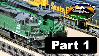 Train Layout Update and Really Long Ops Session (Part 1 of 6) with ATSF, BN, SP, & D&RGW
