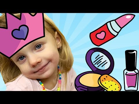 Nika Pretend Play With Kids Make Up Toys | Baby Makeup