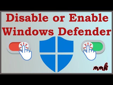 Disable Windows 10 Defender – Turn Off Windows Defender Antivirus