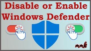 disable Windows 10 Defender  Turn off Windows Defender Antivirus