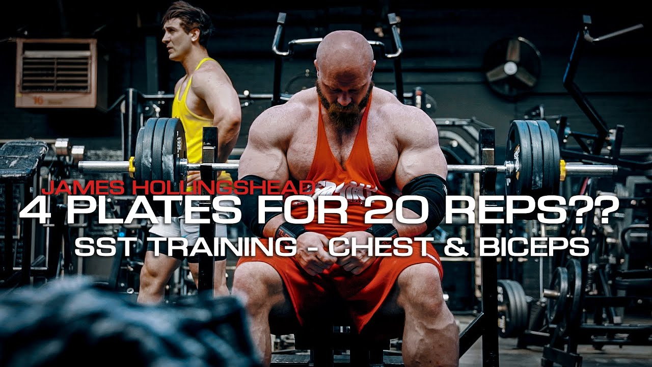 4 PLATES FOR 20 REPS?? - SST TRAINING CHEST & BICEPS