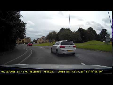 Dashcam Connected | car gets cut up on roundabout | Cirencester | 04/09/2016