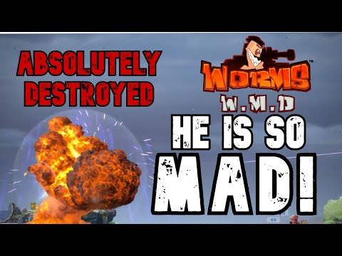 Worms W.M.D: I made my cousin RAGE and uninstall his game |