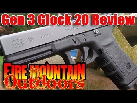 Glock 20 10mm Review and Demonstration - Enough power to stop Sasquatch!