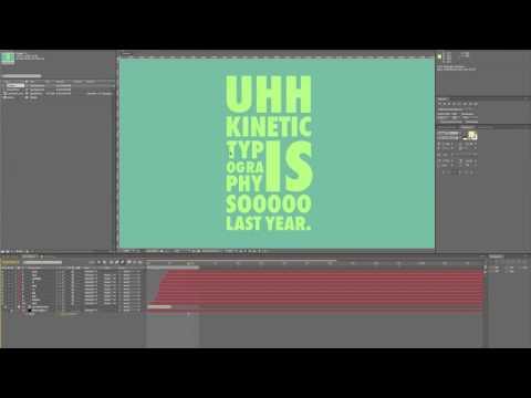Kinetic Typography Tutorial