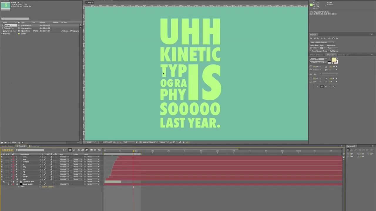kinetic typography tutorial youtube