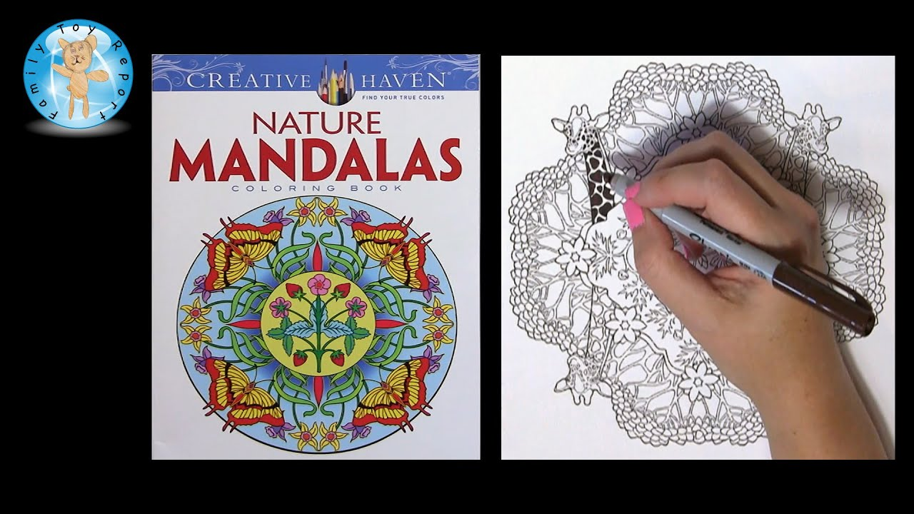 Creative Haven Nature Mandalas By Marty Noble Adult Coloring Book Giraffe
