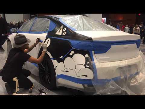 Creative Kia Cadenza at ART-of-Motion: 2017 Washington Auto