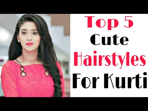 top-5-cute-hairstyles-for-kurti-|-front-hairstyles-|-new-hairstyles-|-trendy-hairstyles