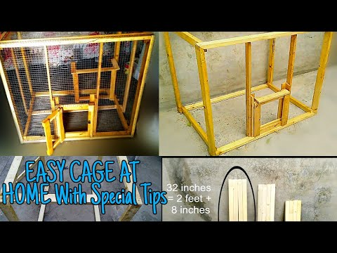 How to Make Easy Aviary Wooden Parrot Cage / Birds Cage at Home for Budgies, Cockatiel, Love Birds