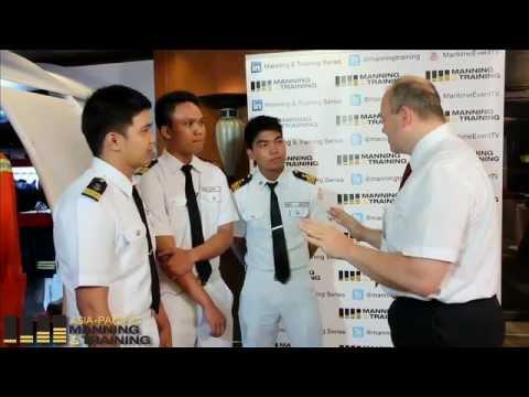 Filipino Cadets interviewed by Kuba Szymanski, Secretary General, InterManager