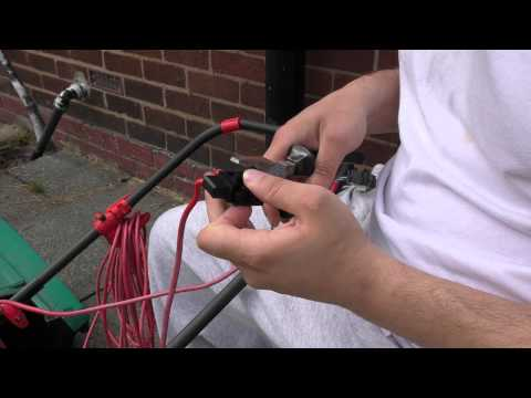 How To Repair a Bosch Rotak Lawnmover Switch And Motor Connections