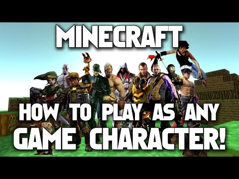 Minecraft: How To Play As Any Game Character [Custom Steve Mod] Tutorial
