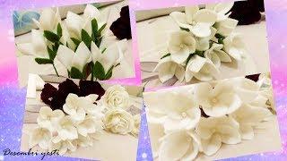 Cara Membuat Bunga dari Kain Flanel - by Desembri Yesti