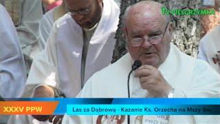 XXXV PPW - Las za Dąbrową - Msza Św. - Kazanie ks. Orzecha - 2015-08-08