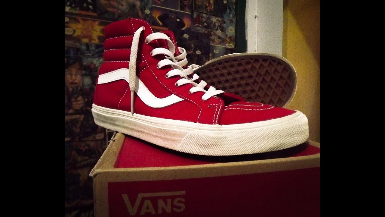 704f960633 Unboxing  1 - Vans Sk8-HI Reissue Vermelho - YouTube