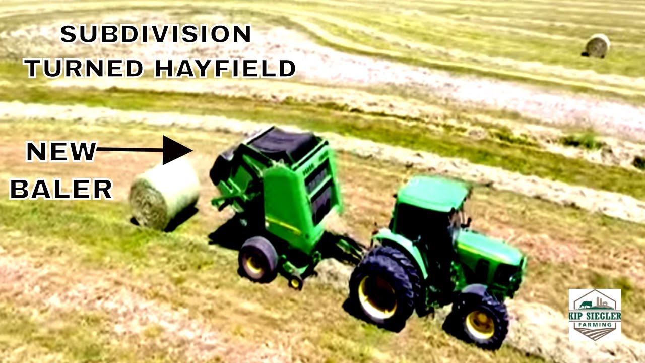 Shiny Green Paint   Baling and Moving Hay bales in a Subdivision, Let's Go!