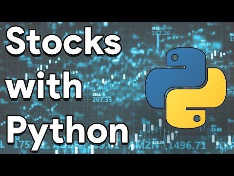 Plotting Stocks Graphs Using Python | Tutorial thumbnail