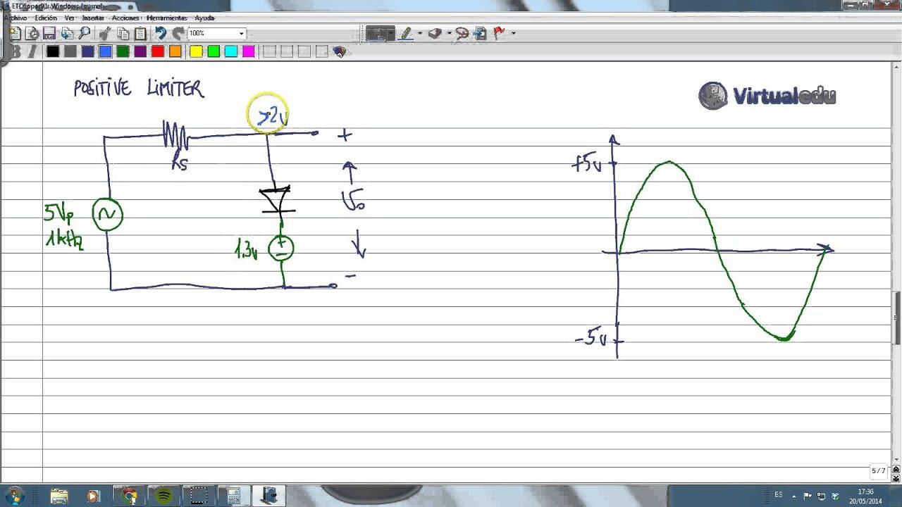 Circuito Recortador : Electrotutorial circuito clipper recortador con
