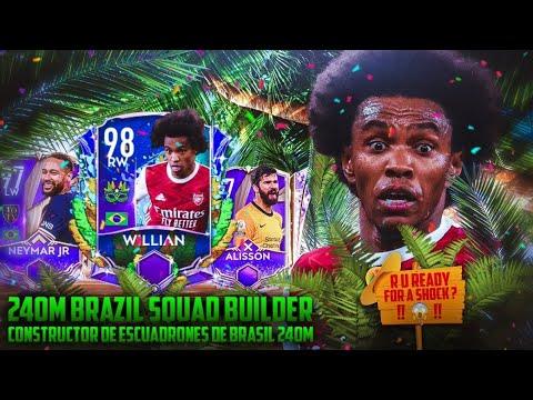 240M FULL BRAZIL SQUAD BUILDER ||FIFA MOBILE 21||FIFA MOBILE CARNIBALL SQUAD UPGRADE BRAZIL