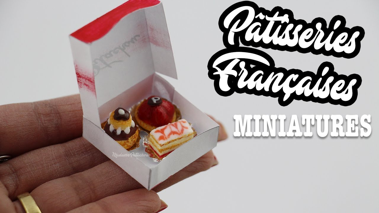 Miniature French Pastries Fimo Et Papier