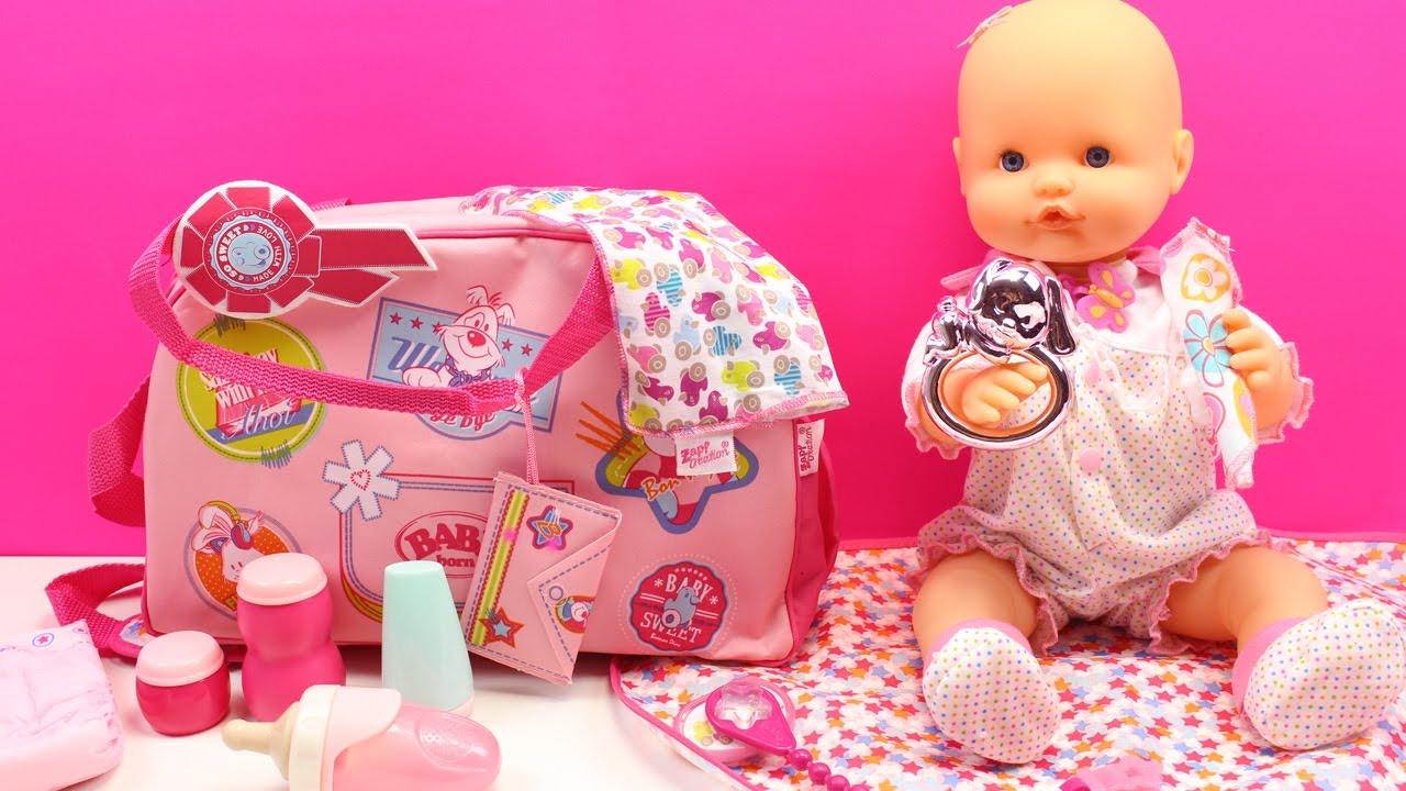Bolso cambiador y accesorios baby born la beb nenuco for Mesa cambiador para bebe