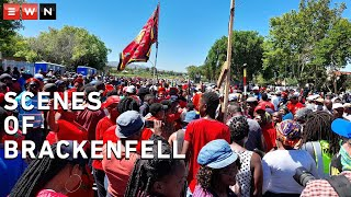 The Economic Freedom Fighters were at Brackenfell to protest against racism. Some community members of Brackenfell also gathered but were told to disperse as they did not have a permit. Police shot water cannons and stun grenades at a large group of EFF to prevent them from moving closer to Brackenfell High school.  #EFF #Brackenfell