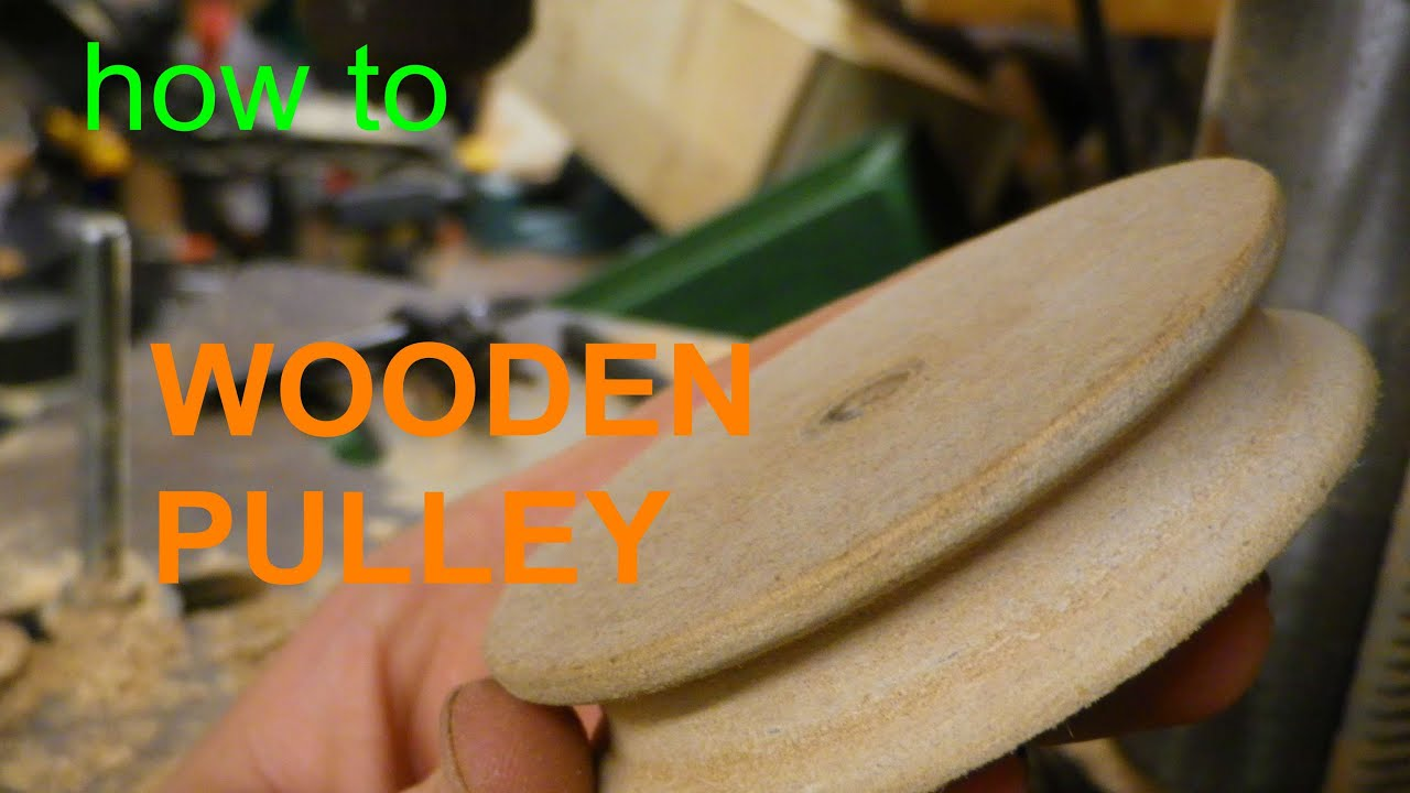 Wooden PULLEY - without a lathe - YouTube