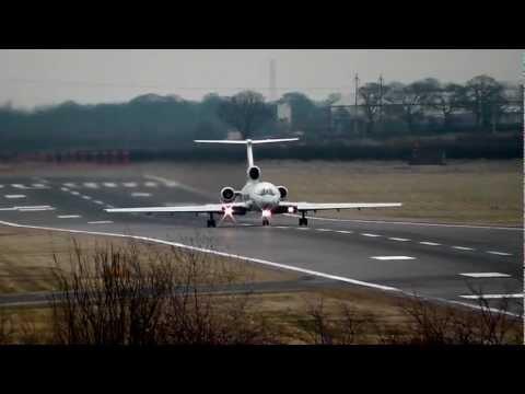 UTair TU154 RA-85057 departing Newcastle airport 15/03/13