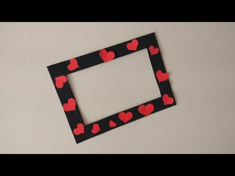 DIY | Quick and easy Photo Frame out of Paper| Best out of waste