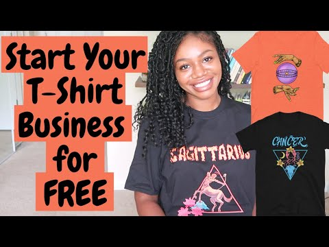 How to Start a T-shirt Business for FREE | 2021 Print-on-Demand Business Start to Finish Merch Setup