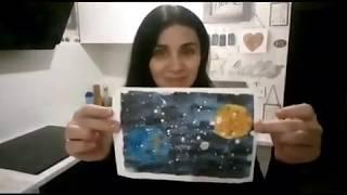 Нетрадиционное рисование на тему «Космос»