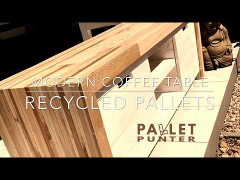How to make a Modern Pallet Wood TV Stand DIY