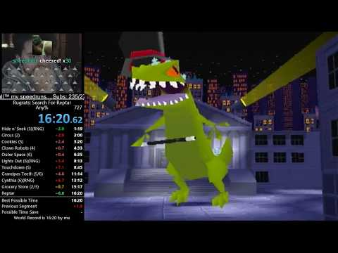 Rugrats: Search for Reptar Any% Speedrun PB 16:20 RTA (8/19/17)