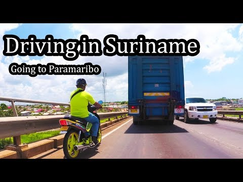 2017 - Driving in Suriname - Going to Paramaribo (1/2) - Sept 2017